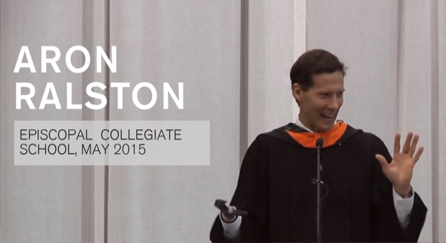 Commencement Speech, Aron Ralston