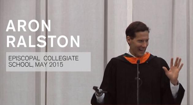 Commencement Speech, Aron Ralston